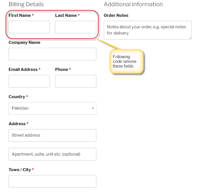 Remove Billing Address of WooCommerce Custom Checkout Fields