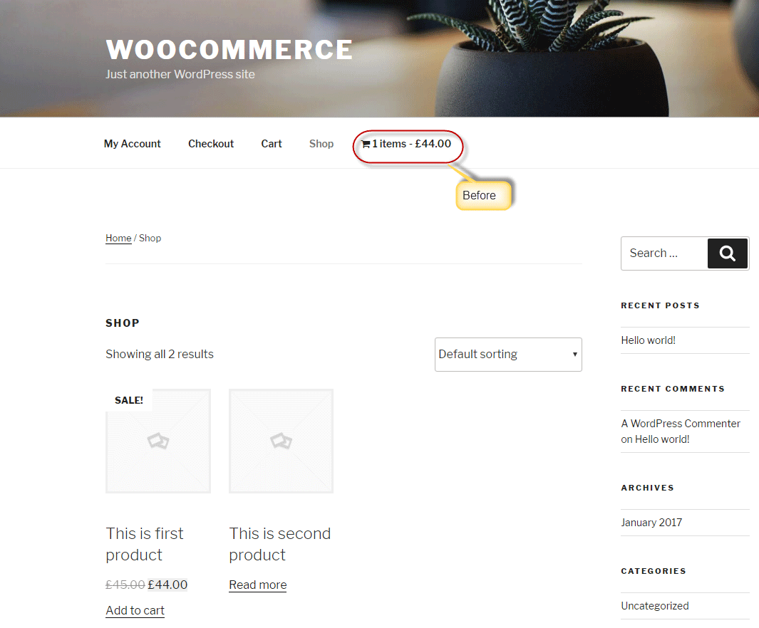 add products to the cart using AJAX