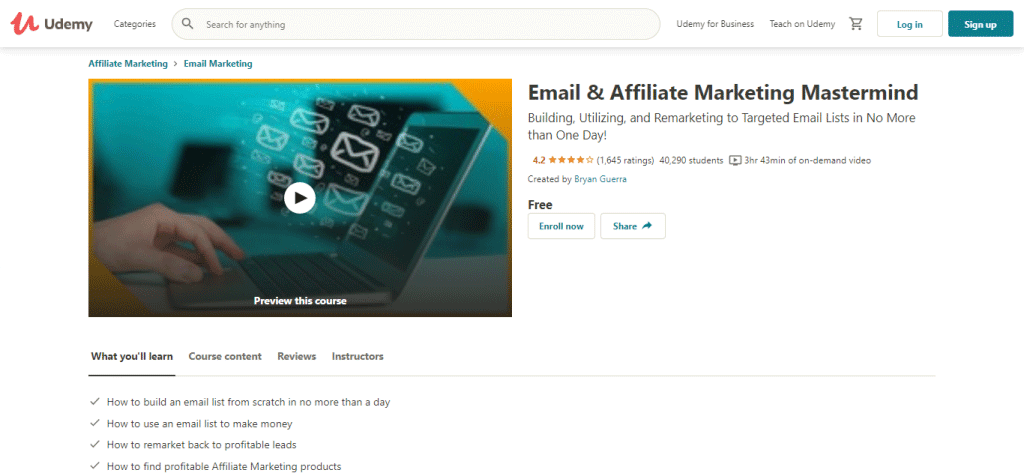 Email and Affiliate Marketing Mastermind