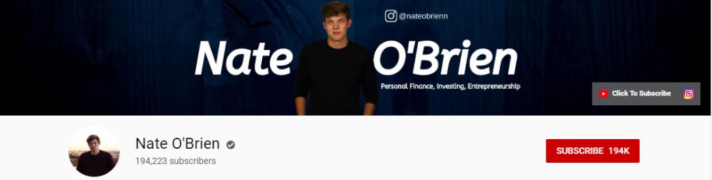 YouTube Influencer: Nate O' Brien