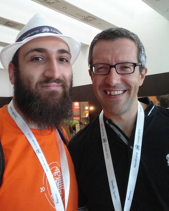 With Pere Hospital (CTO, Cloudways) at WordCamp Europe 2015