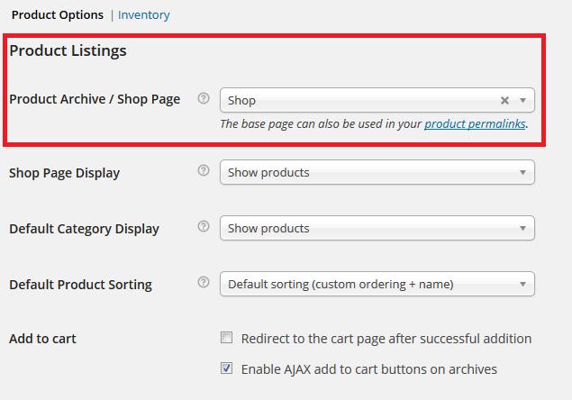 Product Listings WooCommerce
