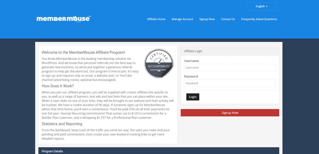 Member Mouse affiliate marketing program