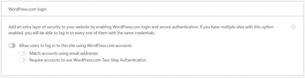 jetpack WordPress.com login