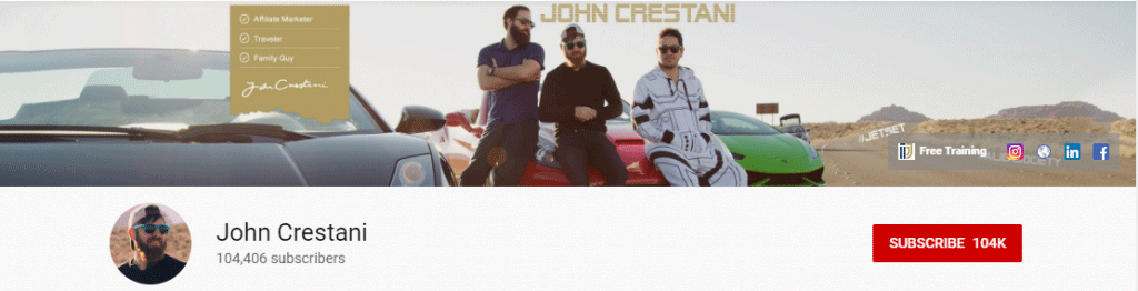 Affiliate Youtuber: John Crestani