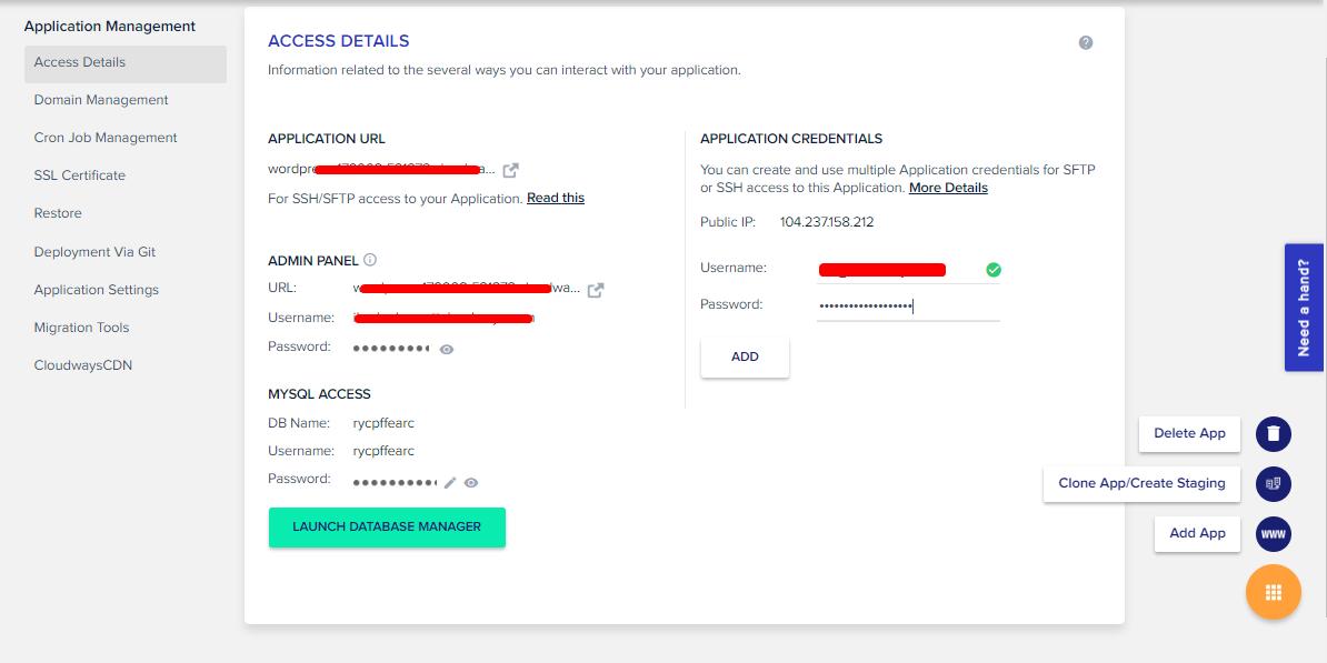 website credentials