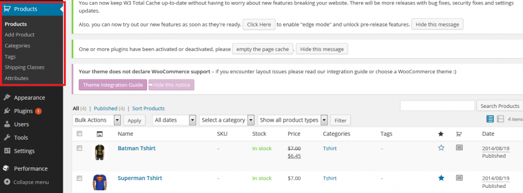 Add New Products WooCommerce