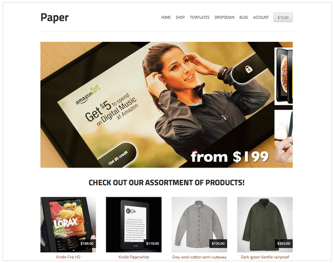 StoreFront Paper Free WooCommerce Theme