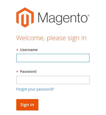 Magento 2 admin panel