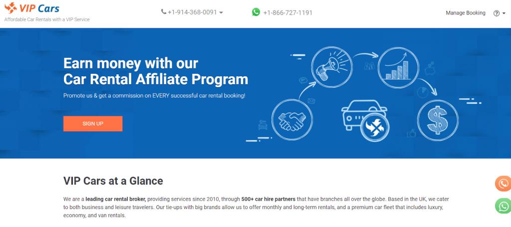 VIP Cars affiliate program