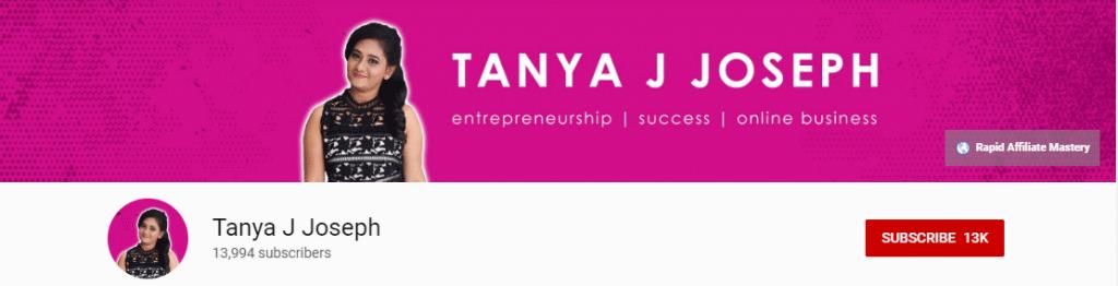Youtube Influencer: Tannya J Joseph