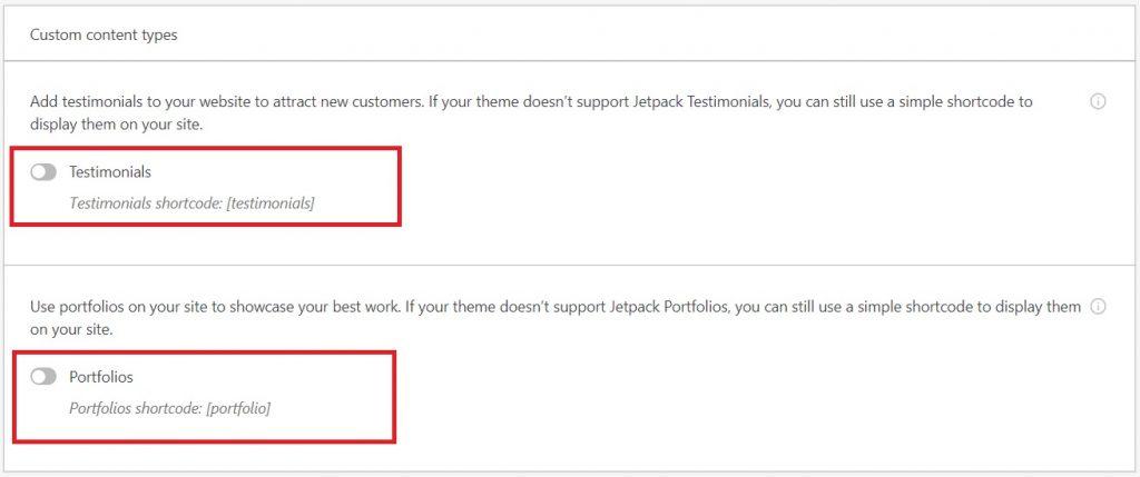 jetpack custom content types