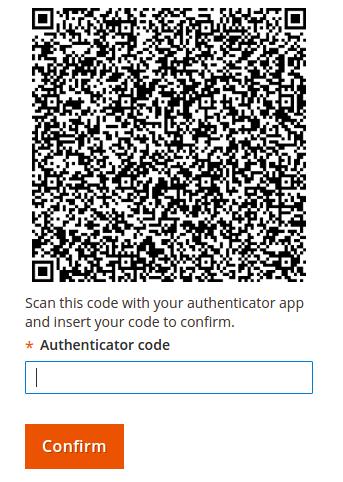 Magento 2 FA QR Code
