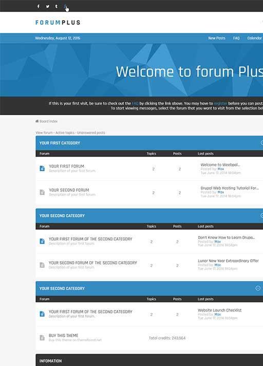 forum theme