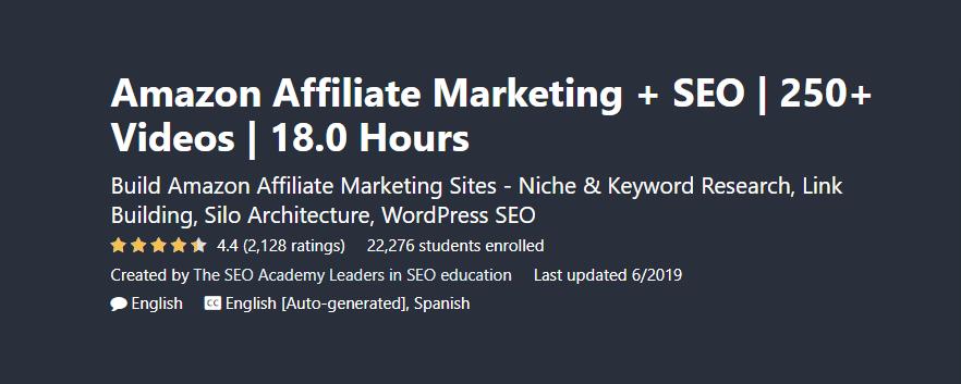 Amazon Affiliate Marketing + SEO