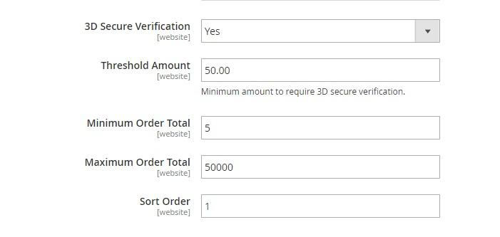 3D Secure verification