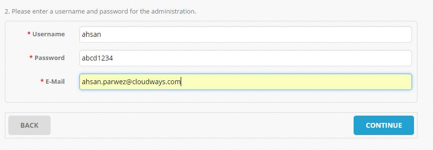 OpenCart Set Admin User