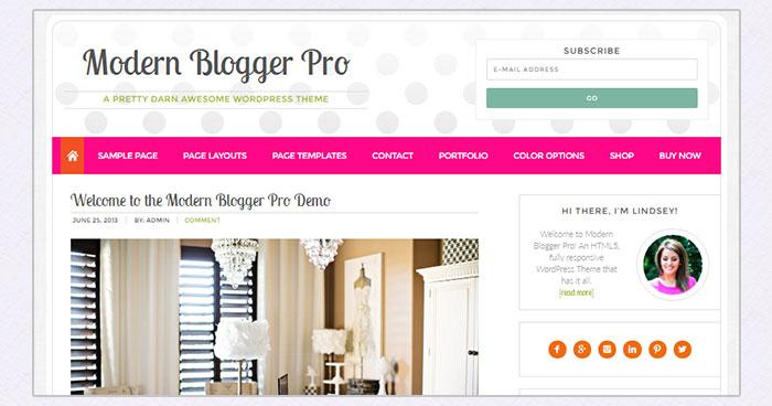 Modern Blogger Pro Woocommerce theme