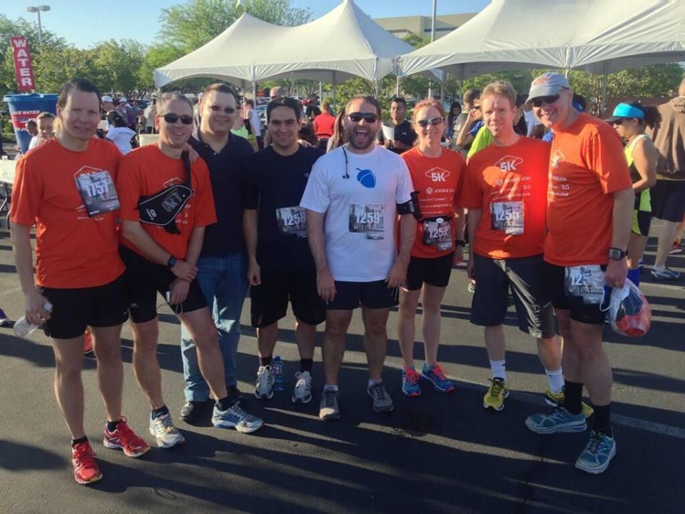 Magento Running Team before the big race. Las Vegas 5K 2014