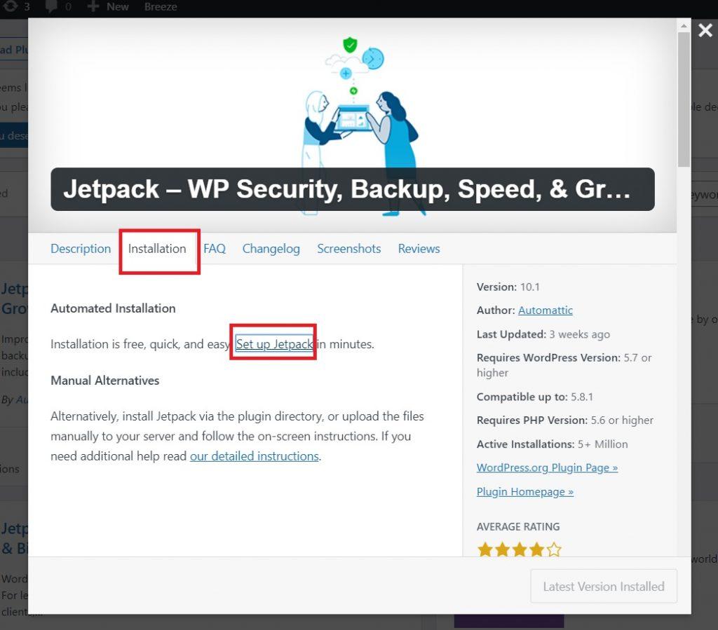 set up jetpack on wordpress