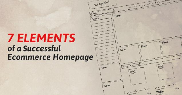 eCommerce Homepage elements