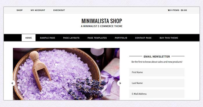 Minimalista Shop Woocommerce theme