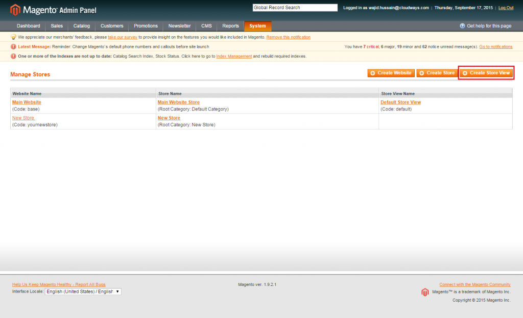 Magento: Store View