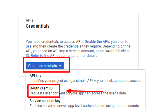 API Credentials