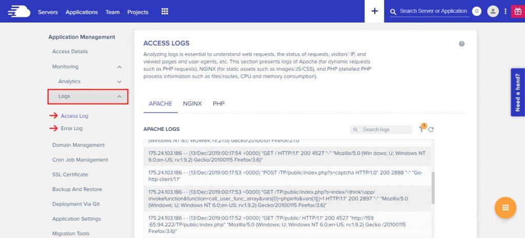 Access-&-Error-Logs-Cloudways