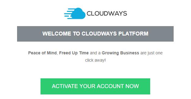 Account Verification Cloudways