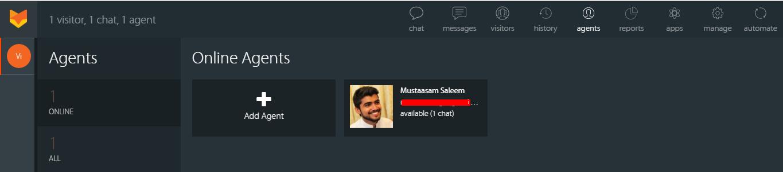 add agent happyfox chat