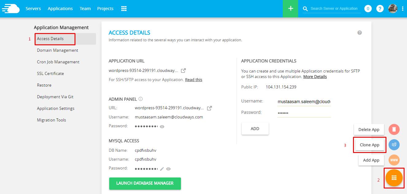 Add App in Cloudways