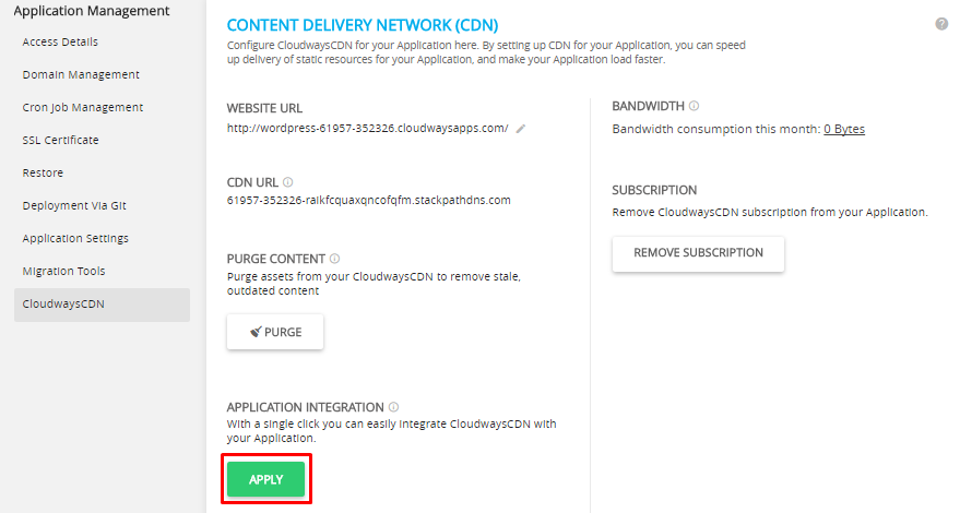 Add CloudwaysCDN to WordPress