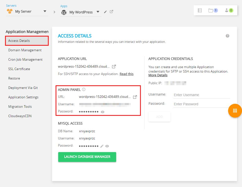 Amazon WordPress Hosting Application Management