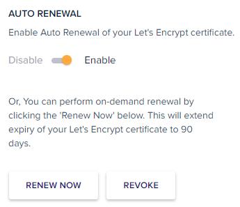Auto Renewal of WordPress Free SSL Certificate