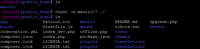 rsync Mautic
