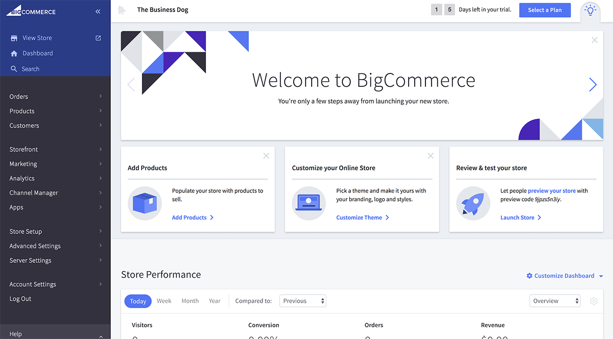 BigCommerce Interface