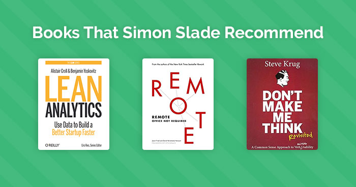 Here are some books that Simon Slade recommend