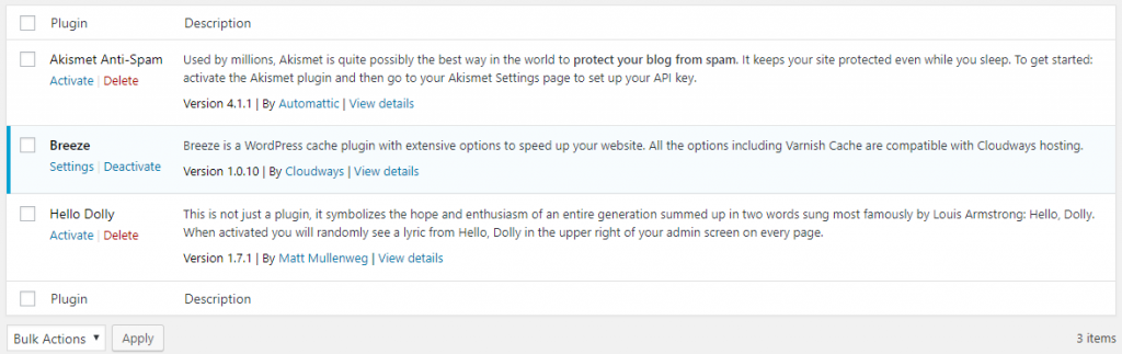 Breeze WordPress Plugin