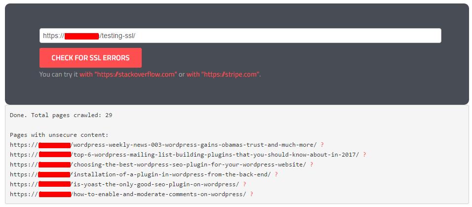 Check NON-SSL URLs