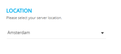 Select Location Cloudways