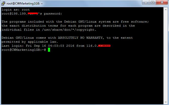 Cloudways SSH Terminal
