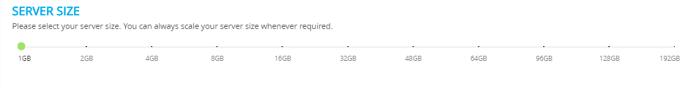Select Server Size Cloudways