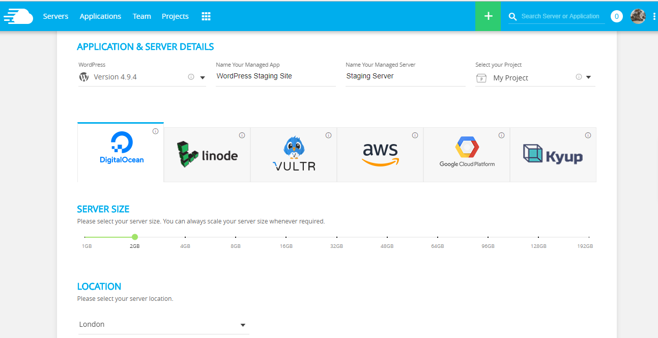 Cloudways Supported Cloud Providers