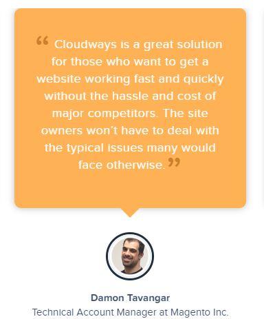 Depoimento sobre Cloudways