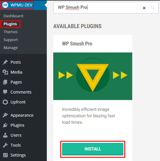 WPMU Dev WP Smush Pro Installation