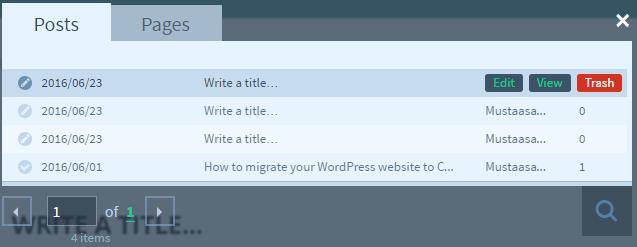 Edit posts using Upfront