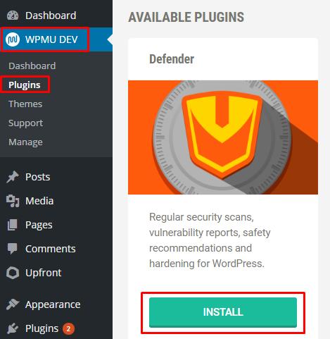 WPMU Dev Defender Plugin