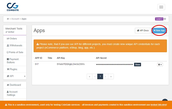 Coingate API