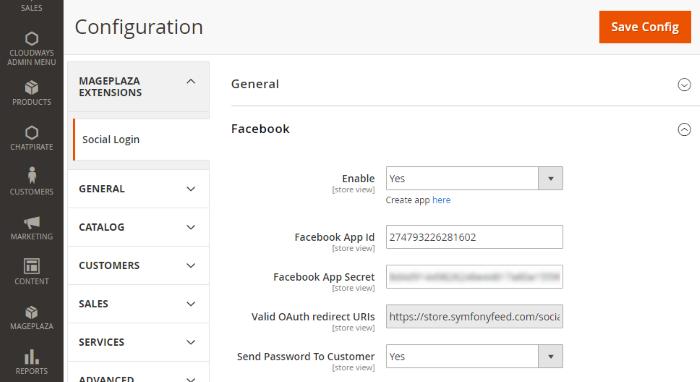 Configure Facebook
